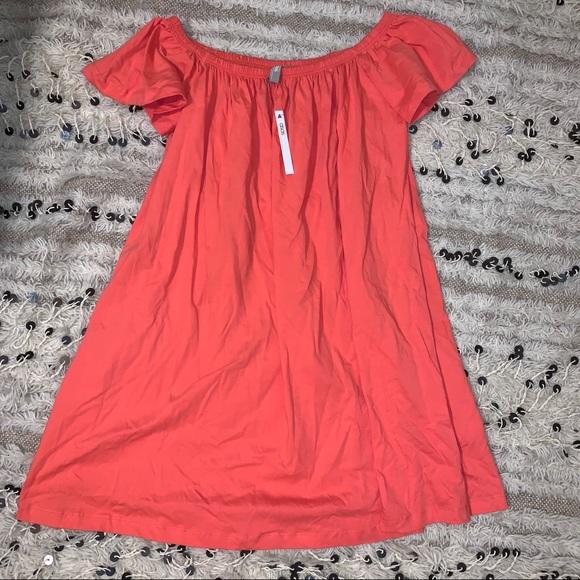 🎄 ASOS Coral Off Shoulder Casual Mini Dress